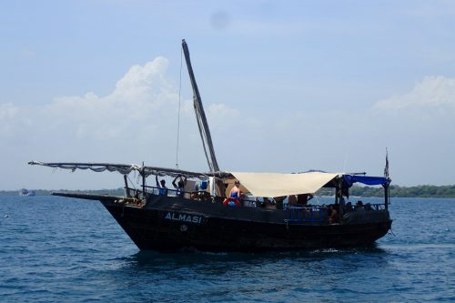 Dhow in Pacific Ocean